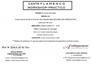 Work Shop Flamenco Cara A juliol