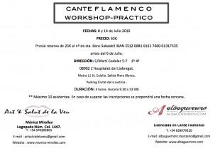 Work Shop Flamenco Cara A juliol
