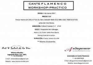 Work Shop Flamenco Cara A marzo